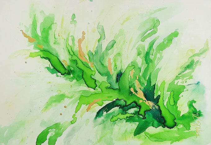 Végétation fleurissante-Annciella Alarie Artiste